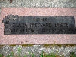 Clara <I>Durward</I> Lentz