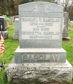 Henrietta <I>Beegle</I> Barclay