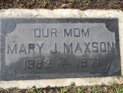 Mary Jane <I>Alexander</I> Maxson