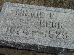 Minnie E <I>Hendry</I> Beck