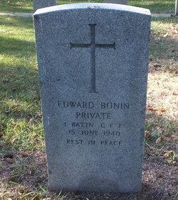 Pte Edward Bonin