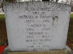 Rose <I>Sorrell</I> Thompson