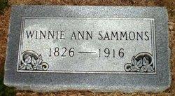 Winnie Ann <I>Lynch</I> Sammons