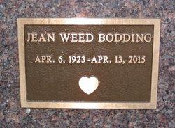 Jean <I>Weed</I> Bodding