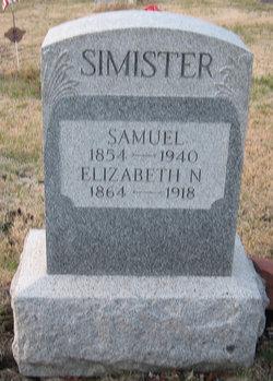 """Elizabeth """"Lizzie"""" <I>Neal</I> Simister"""