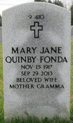 Mary Jane <I>Quinby</I> Fonda