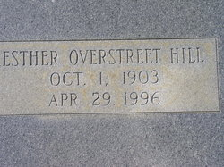 Esther Florance <I>Overstreet</I> Hill