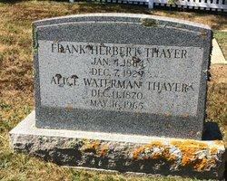 Frank Herbert Thayer