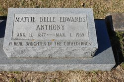 Mattie Belle <I>Edwards</I> Anthony