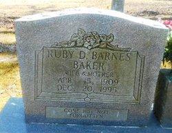 Ruby Dell <I>Barnes</I> Baker