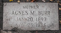 Agnes M. <I>Wold</I> Burr