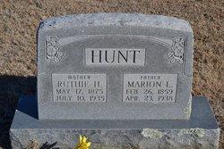 """Marion Leander """"M.L."""" Hunt"""