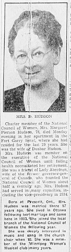 Margaret Pierson <I>Shipman</I> Hudson