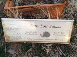 Betty Lois <I>Gaston</I> Adams
