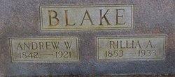 """Aurillia A. """"Rillie"""" <I>Hazlett</I> Blake"""