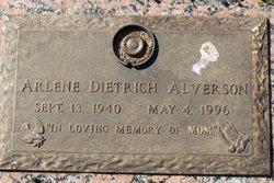 Arlene <I>Dietrich</I> Alverson