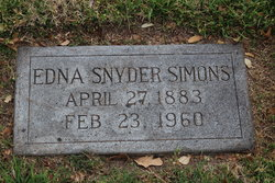 Edna <I>Snyder</I> Simons