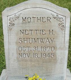 "Mariah Annettie ""Nettie"" <I>Hatch</I> Shumway"