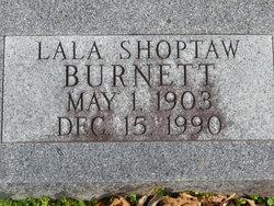 Lala <I>Shoptaw</I> Burnett