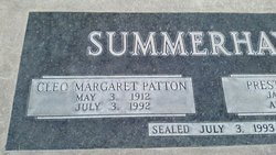 Cleo Margaret <I>Patton</I> Summerhays