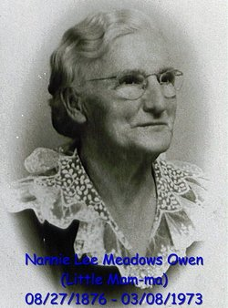 Nannie Lee <I>Meadows</I> Owen