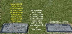 St Clair Walker McAllister