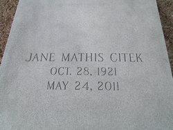 Jane <I>Mathis</I> Citek
