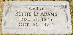 Bettie DeShazo <I>Miller</I> Adams
