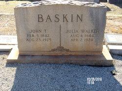 Julia <I>Walker</I> Baskin