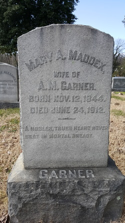 Mary Ann <I>Maddex</I> Garner