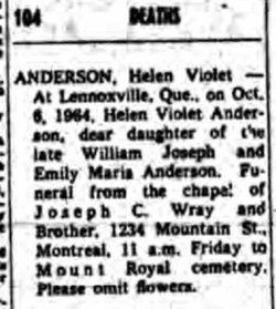 Helen Violet Anderson