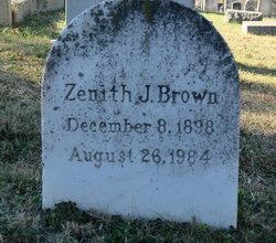 Zenith <I>Jones</I> Brown