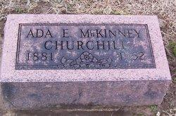 Ada E <I>McKinney</I> Churchill