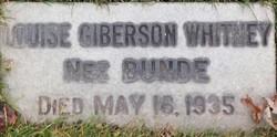 Louise Giberson <I>Bunde</I> Whitney