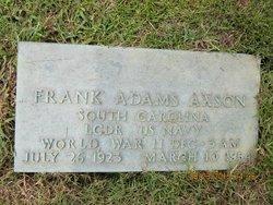 "LCDR Frank Adams ""Shug"" Axson"
