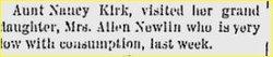 Mary Belle <I>Kirk</I> Newlin