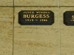 Joyce Winona <I>Ahlgren</I> Burgess