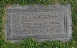 Rose B <I>Friesch</I> Ackerman