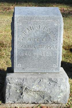 Sarah G. <I>Coons</I> Benson