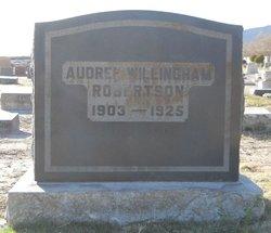 Audree Olga <I>Willingham</I> Robertson