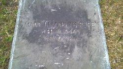 Mary Elizabeth <I>Bilbro</I> Pope