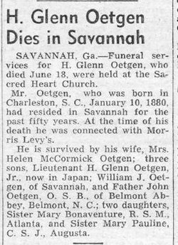 Herman Glenn Oetgen, Sr