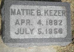 Mattie Belle <I>Baker</I> Kezer
