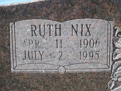Ruth B. <I>Nix</I> Calaway