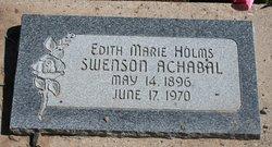 Edith Marie Holms <I>Swenson</I> Achabal