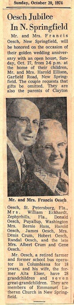 Francis E Oesch