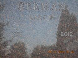 Mary S <I>Faber</I> German