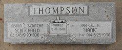 Myrna Elaine <I>Scritchfield</I> Thompson