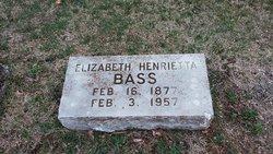 Elizabeth Henrietta <I>Kirchner</I> Bass