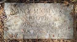 Nancy M <I>Calvert</I> Brown